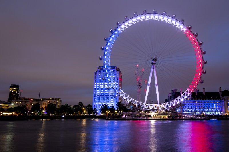 圖為有「倫敦眼」之稱的英國觀景摩天輪。(美聯社)