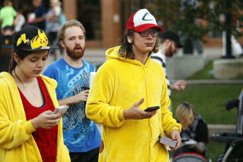 日本任天堂手機遊戲「精靈寶可夢GO」(Pokémon GO)風靡全球(美聯社)