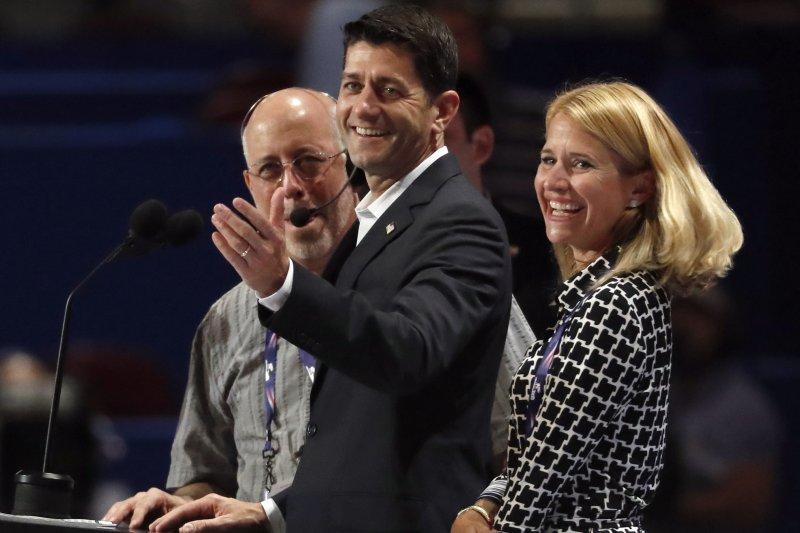 美國共和黨(RNC)全國大會18日在克利夫蘭揭幕,聯邦眾議院議長萊恩(美聯社)