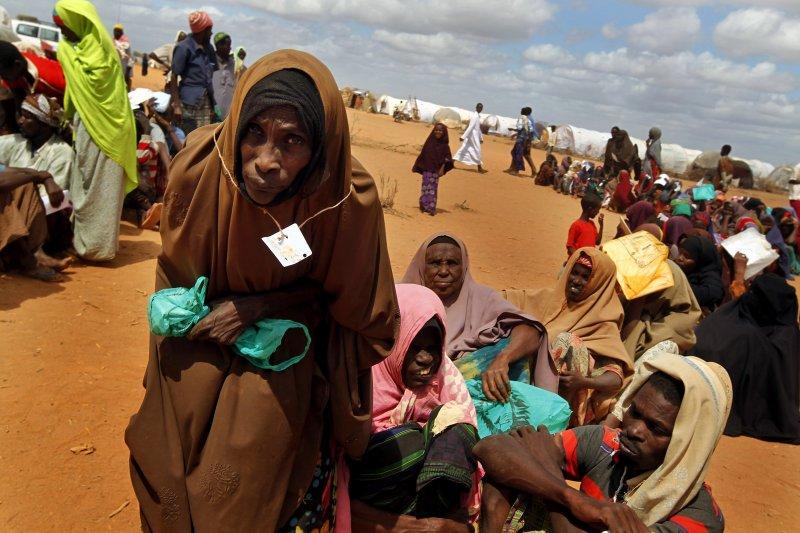 肯亞哈格德拉難民營(Hagadera Camp)的索馬利亞難民(美聯社)