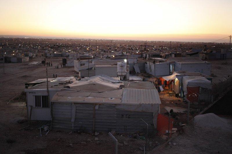 約旦的札塔里難民營(Zaatari camp)(美聯社)