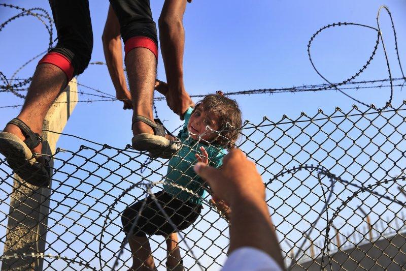土耳其與敘利亞邊界的難民營(美聯社)