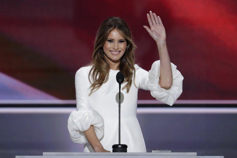 美國共和黨總統候選人川普的妻子梅蘭妮亞。(美聯社)
