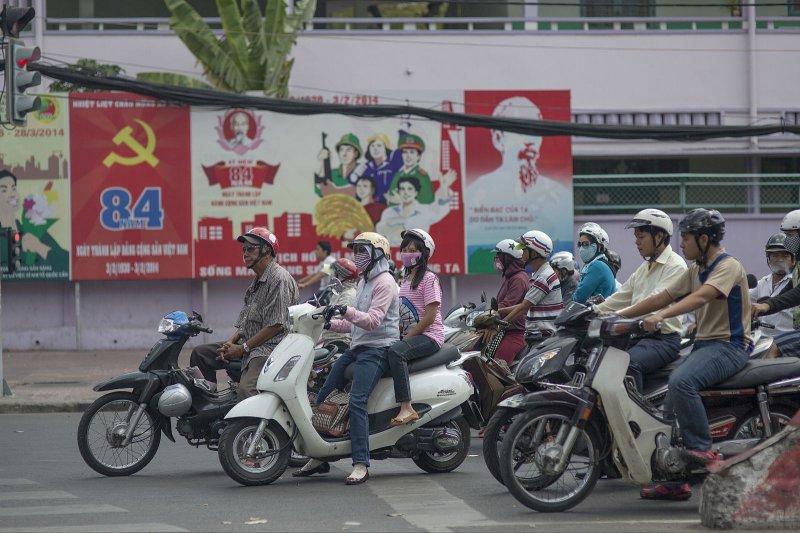 機車是越南民眾的主要交通工具。(圖取自網路)