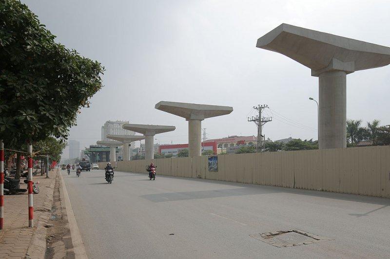 越南河內的捷運工程。(圖取自維基百科)