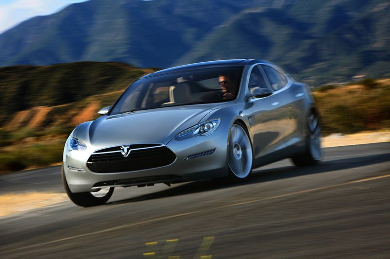 特斯拉電動汽車。(圖片取自維基百科)