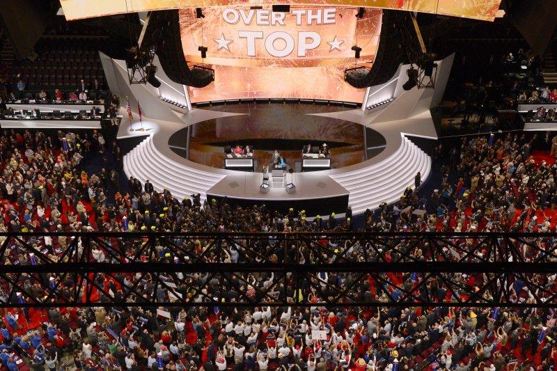 共和黨全國代表大會上,川普跨過1,237張選舉人票門檻,正式獲得提名。(美聯社)