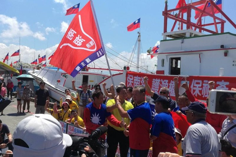 東港漁民自行前往太平島捍衛權利,卻面臨恐遭政府開罰的下場,引發爭議。(資料照,風傳媒)