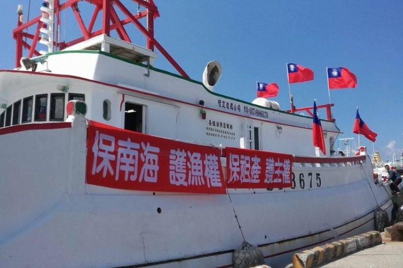 東港漁民赴太平島護主權。(風傳媒)