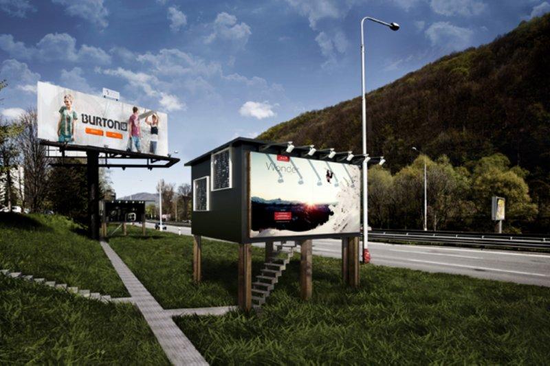 高速公路旁的大型廣告看板,成為無家可歸的遊民避風港(圖/Project Gregory)
