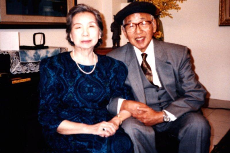 郭雪湖與林阿琴兩人攜手77年,晚年定居於舊金山(圖/郭雪湖基金會提供)