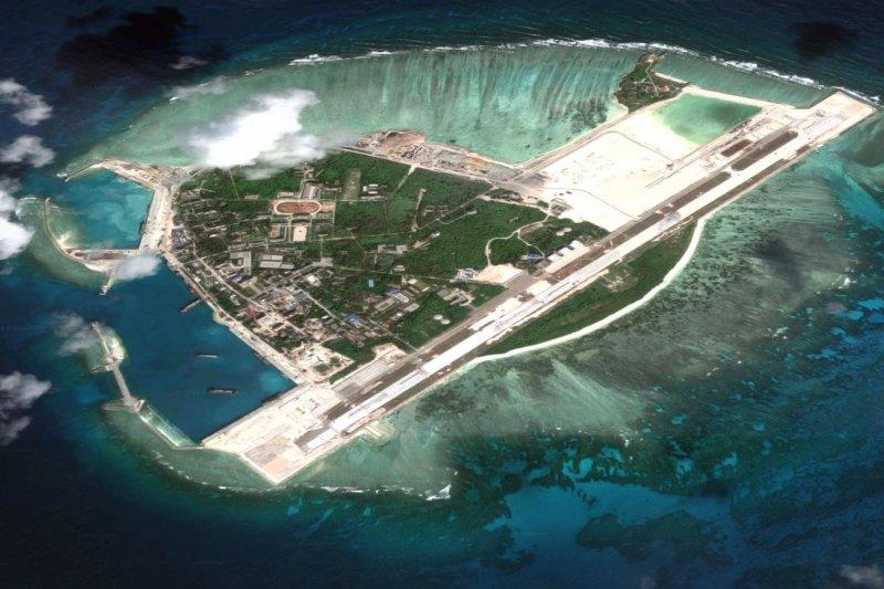 中國在南海仲裁結果出爐的前2天,從南海最大島嶼永興島上撤除紅旗9地對空飛彈。(Google map)