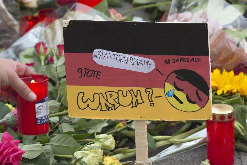 德國慕尼黑發生槍擊案,包括凶嫌在內共10人死亡。(美聯社)