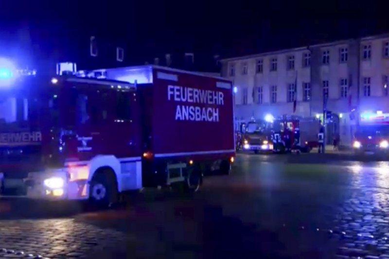 德國南部巴伐利亞邦城市安斯巴赫(Ansbach)24日深夜發生爆炸案,造成多人死傷(美聯社)