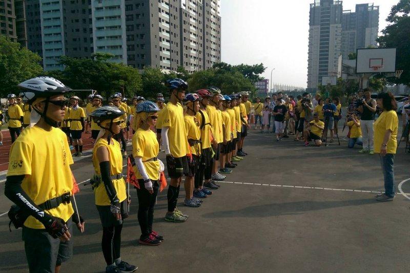 「法拉第少年」24日7時在光武國中操場集合,準備踏上13天單車環島旅行。(取自新竹市全球資訊網)