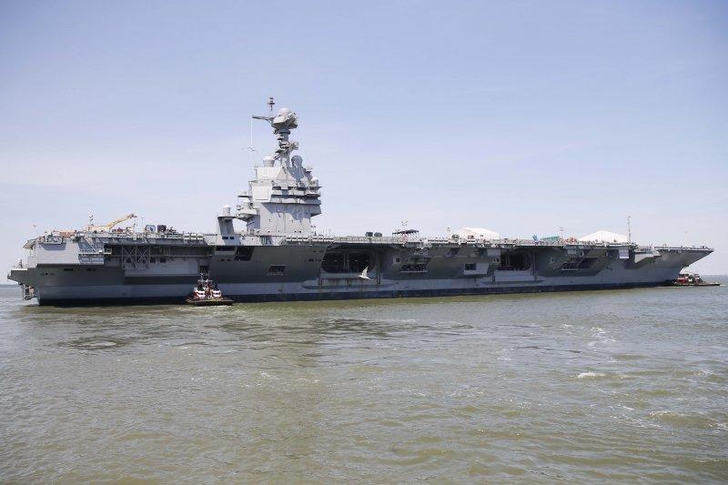 美國史上造價最貴核動力航空母艦「福特號」(USS Gerald R. Ford)可能要到2017年才會正式服役。(翻攝America