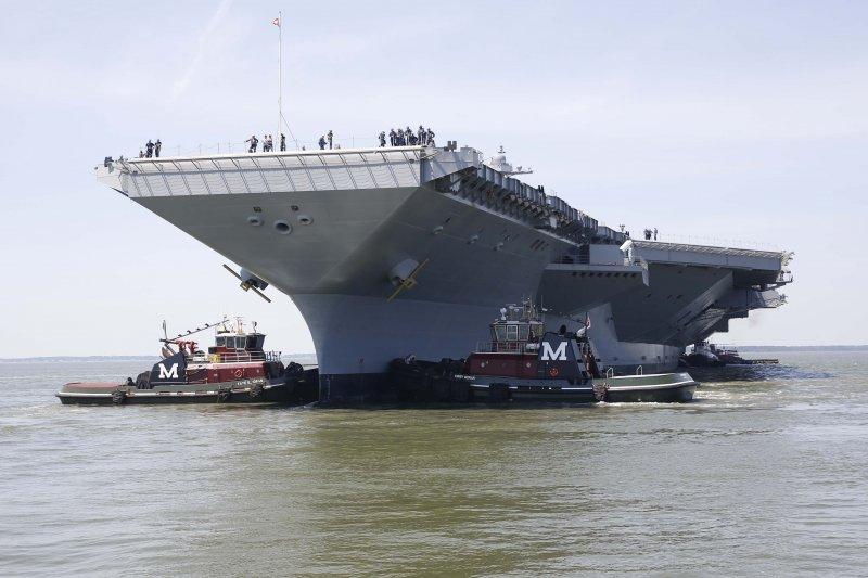 美國史上造價最貴核動力航空母艦「福特號」(USS Gerald R. Ford)。(翻攝America's Navy)
