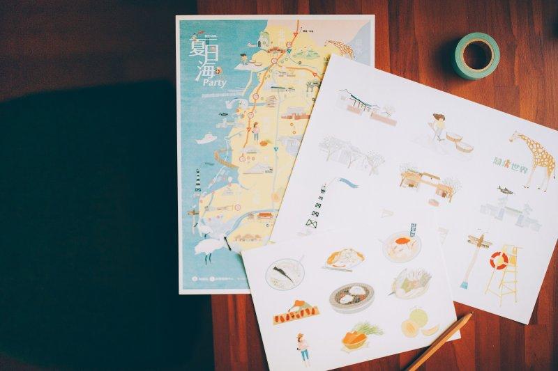 手繪區域地圖即日起免費索取,帶你台南走透透~(圖/台南市政府觀光旅遊局提供)