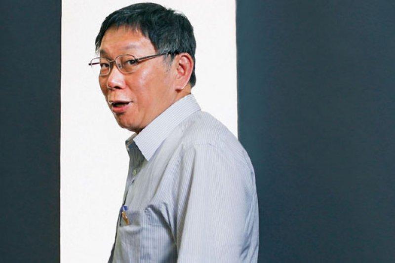 台北市長柯文哲:我跟你講,說服比領導有效,表面看來沒效率,但就是咬牙撐過去。(攝影賴建宏)