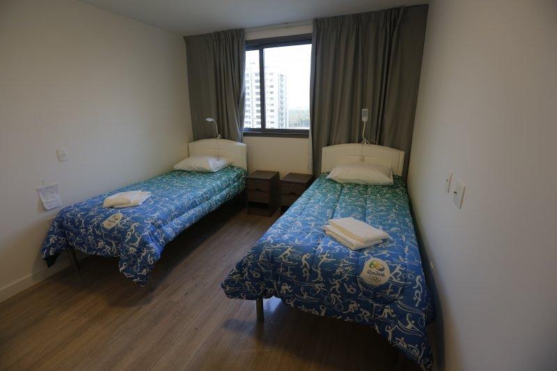 里約奧運選手村內的房間。(美聯社)