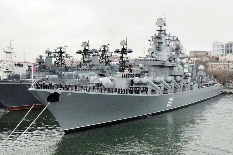 俄羅斯太平洋艦隊巡洋艦「瓦良格號」。(翻攝維基百科)