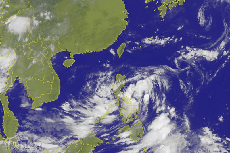 中央氣象局表示,目前位於菲律賓東海面的熱帶性低氣壓有機會成為今年第4號颱風。(取自中央氣象局網站)