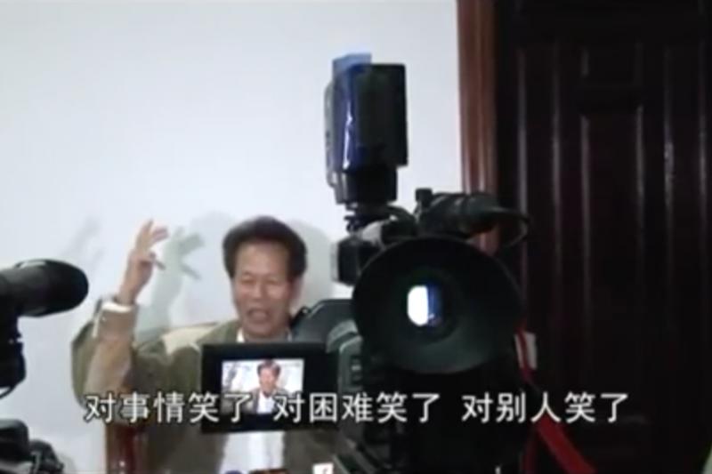 烏坎三日,時任村民臨時代表,帶領村民抗爭的林祖鑾(後改名為林祖戀)。(翻攝Youtube)