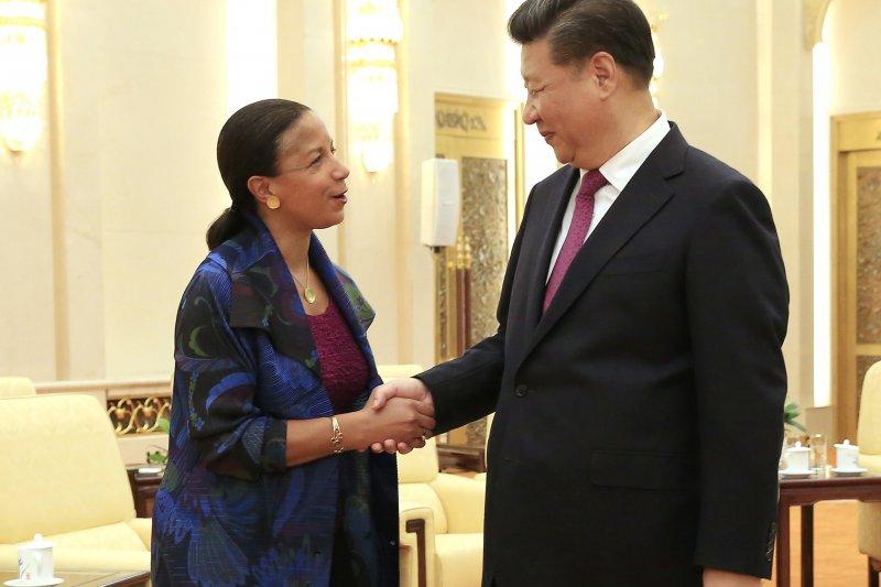 美國國家安全顧問賴斯7月25日前往北京,會晤中國國家主席習近平。(美聯社)