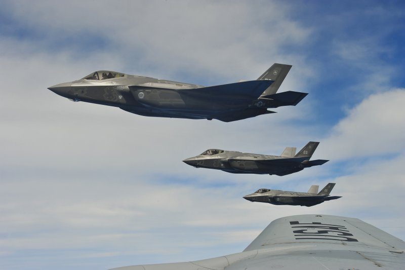 美軍觀演團表示,國軍若能獲得F-35戰機,確實有助於台海空防,並將對共軍航母戰鬥群形成威脅。(資料照,取自US Air Force網站)
