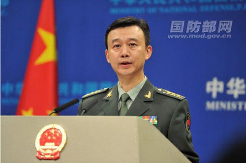 中國國防部新聞發言人吳謙。(中國國防部)