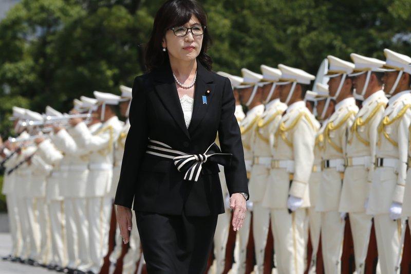 日本新任防衛大臣稻田朋美。(美聯社)