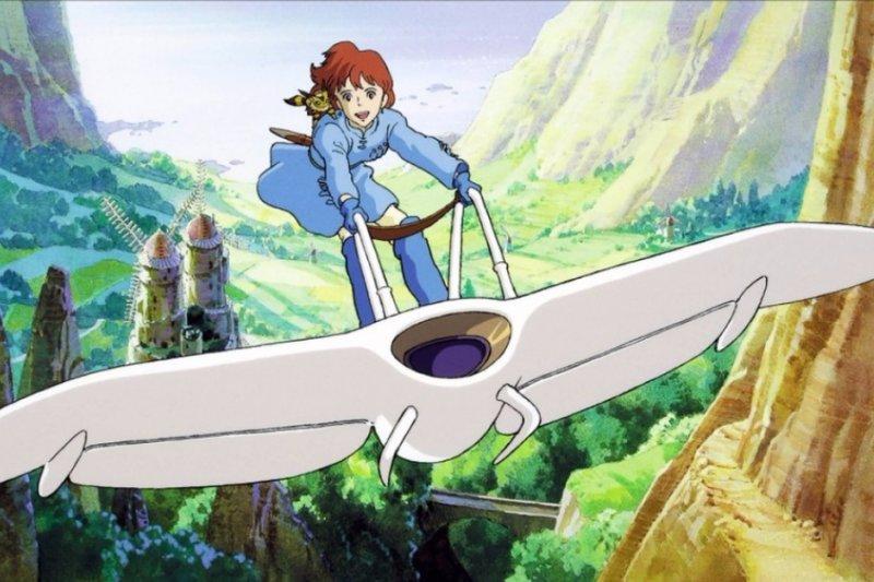 看過《風之谷》的人,一定都難忘娜烏西卡飛翔的身影。(圖/擷自youtube)