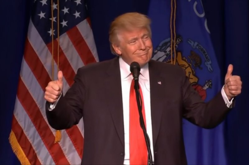 美國共和黨總統候選人川普(Donald Trump)5日表態支持萊恩與馬侃爭取連任(取自YouTube)