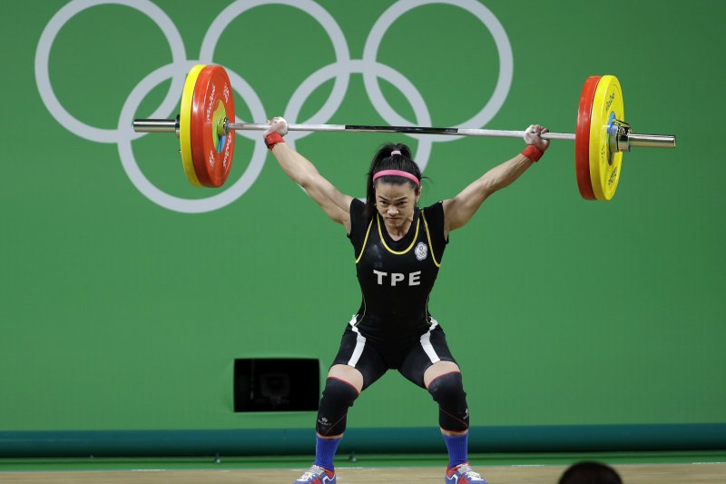 重女將許淑淨為台灣隊帶回里約奧運首面金牌。(美聯社)