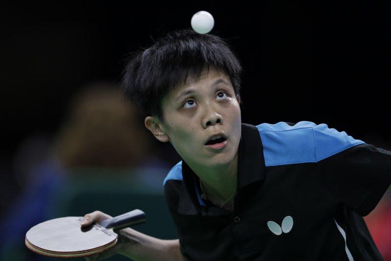 台灣女將鄭怡靜在女單第3輪和白俄羅斯的帕芙洛維奇捉對廝殺。(美聯社)