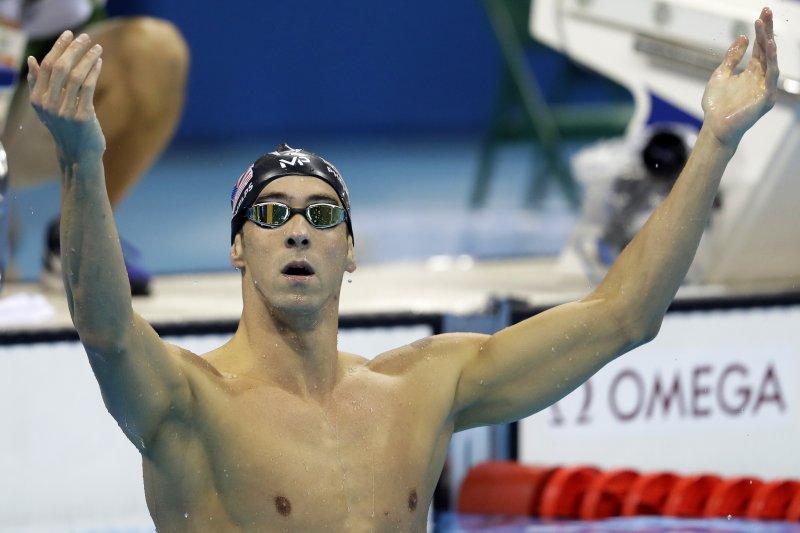 美國泳將菲爾普斯奪下個人生涯第20面金牌。(美聯社)
