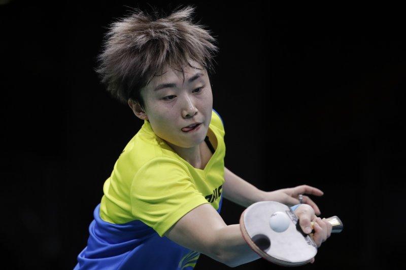 新加坡乒乓球好手馮天薇。(美聯社)