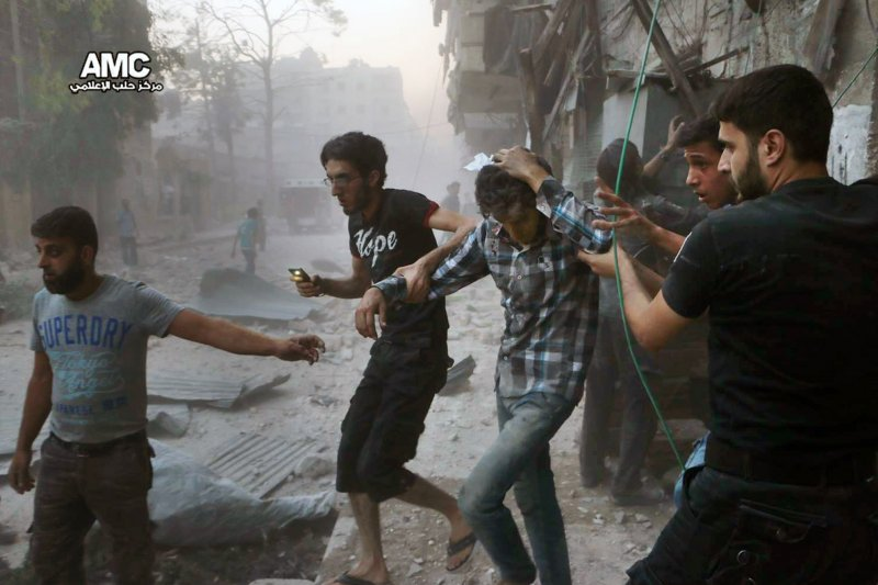 敘利亞北部大城阿勒坡(Aleppo)飽受戰火蹂躪(AP)