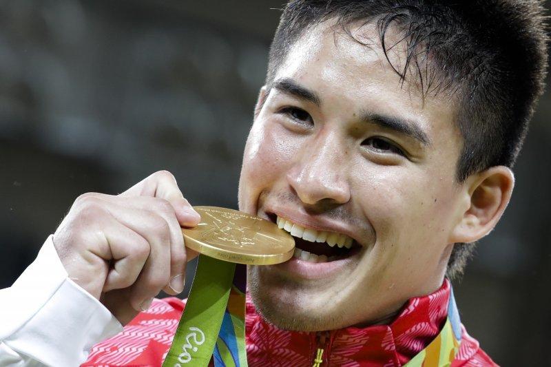 里約奧運日本男子柔道90公斤級金牌貝克茉秋。(美聯社)
