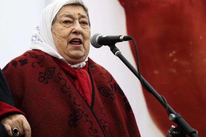 阿根廷人權團體「五月廣場的母親」領導人波納菲尼(Hebe de Bonafini)(AP)