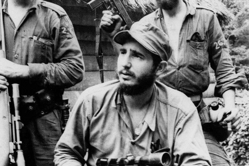 1957年打游擊、搞革命時期的卡斯楚(AP)