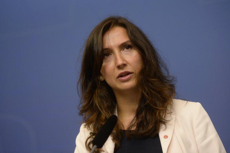 瑞典高中及成人教育和培訓部長哈吉阿麗奇(Aida Hadžialić)(AP)