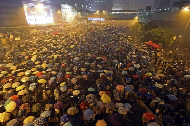 為期79天的「雨傘革命」是香港極為重要的社會運動。(美聯社)