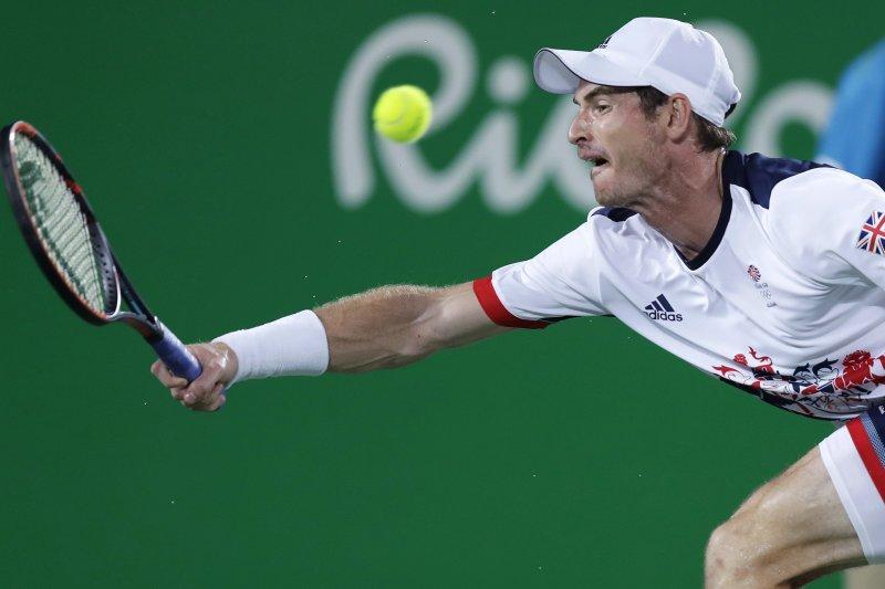 澳洲研究發現,多做球拍類運動有助於降低罹患心臟疾病。圖為英國網球名將莫瑞(Andy Murray)。(美聯社)