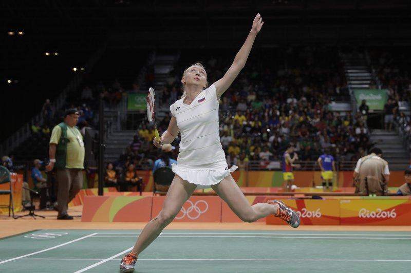 俄羅斯選手佩米諾娃(Natalia Perminova)不敵我國球后戴資穎。(美聯社)