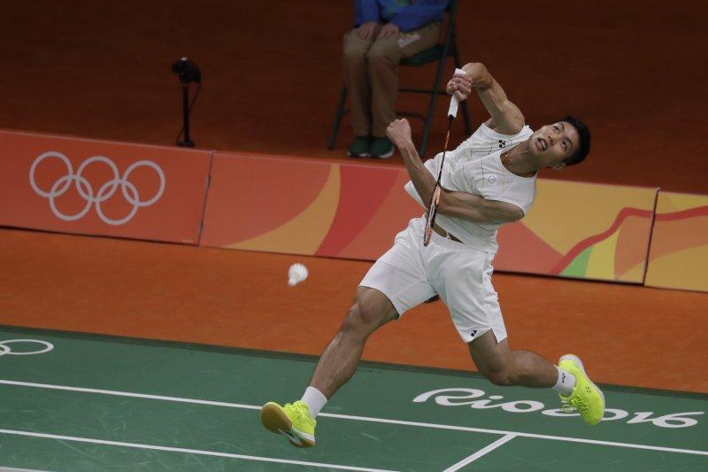 周天成在南韓公開賽以直落二擊敗金廷。 (資料照,美聯社)