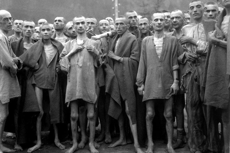 集中營的囚犯。(圖取自網路)