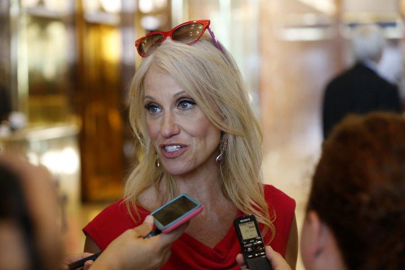 川普找來民調專家康威(Kellyanne Conway)擔任競選經理。(美聯社)