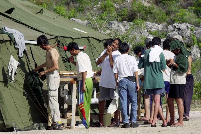 諾魯難民營一隅。(美聯社資料照)
