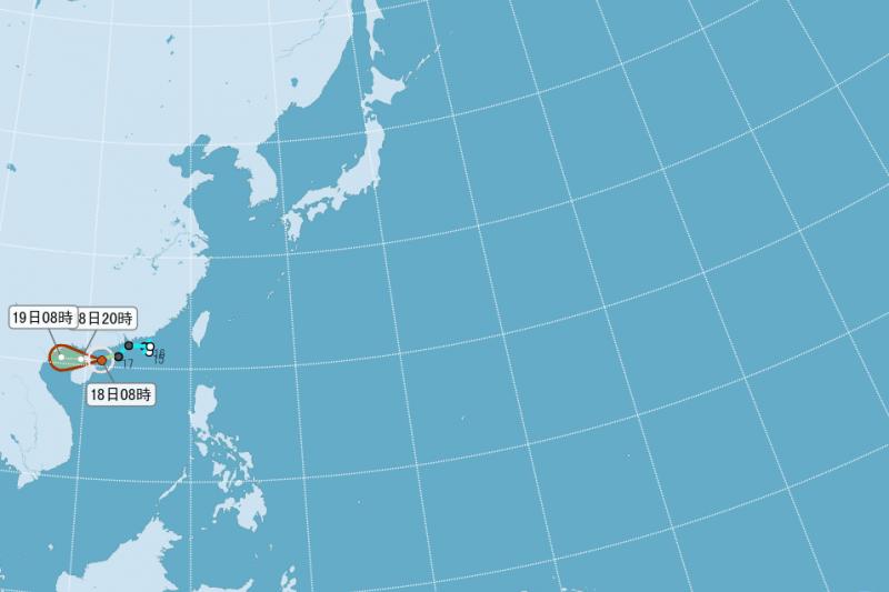 第8號颱風電母今早生成,氣象局預估不會直接影響台灣。(取自中央氣象局網站)